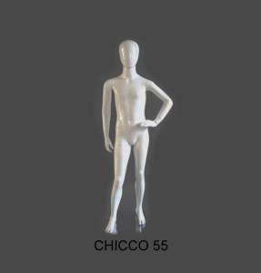 MANICHINO NEW FAIR X BIMBO - CHICCO 55 BIANCO OPACO